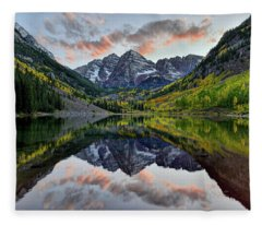 Maroon Bells Sunset Fleece Blanket