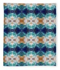 Marrakesh Blues- Art By Linda Woods Fleece Blanket