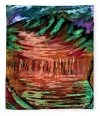 Mars Sunrise  Fleece Blanket
