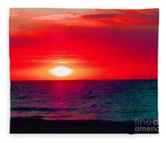 Mars Sunset Fleece Blanket