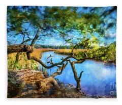 Marsh Dream Fleece Blanket