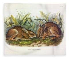 Marsh Hare Fleece Blanket