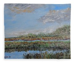 Marsh View Fleece Blanket