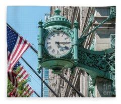 Marshall Field's Clock Fleece Blanket