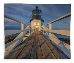 Marshall Point Lighthouse At Sunrise Fleece Blanket