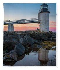Marshall Point Reflection At Sunrise Fleece Blanket