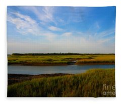 Marshland Charleston South Carolina Fleece Blanket