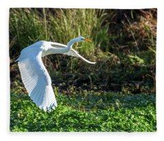 Marshy Flight  Fleece Blanket