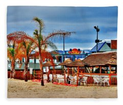 Martells On The Beach - Jersey Shore Fleece Blanket