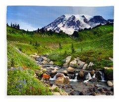 Martha Creek Wildflowers Fleece Blanket