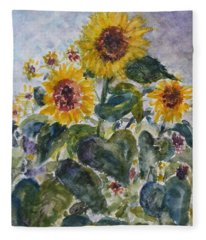 Martha's Sunflowers Fleece Blanket