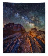 Martian Landscape Fleece Blanket