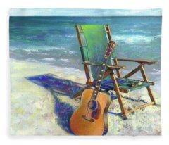 Beach Paintings Fleece Blankets