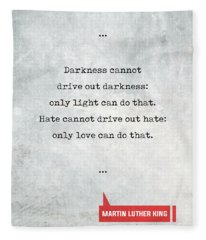 Martin Luther King Quotes 1 - Literary Quotes - Book Lover Gifts - Typewriter Quotes Fleece Blanket