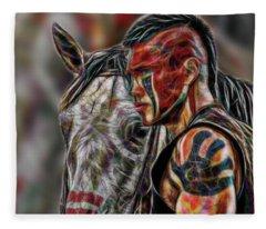 Martin Sensmeier - Digital Art Fleece Blanket