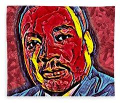 Martin Luther King Jr. Portrait Fleece Blanket