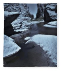 Martins Cove 3 - Devils Gate 3 - Blue Series Fleece Blanket