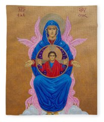 Mary Mother Of Mercy Icon - Jubilee Year Of Mercy Fleece Blanket