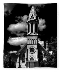 Mary Queen Of Heaven Catholic Church  Fleece Blanket
