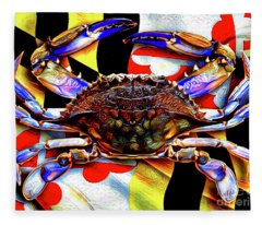 Maryland Blue Crab Fleece Blanket