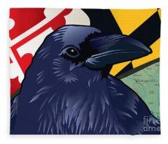 Maryland Citizen Raven Fleece Blanket
