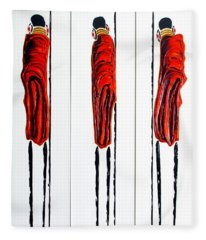 Masai Warrior Triptych - Original Artwork Fleece Blanket