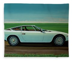 Maserati Khamsin 1974 Painting Fleece Blanket