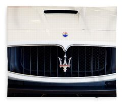 Maserati White Pano 121715 Fleece Blanket