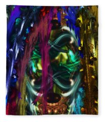 Mask Of The Spirit Guide Fleece Blanket