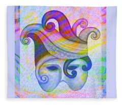 Mask Pacifica Fleece Blanket