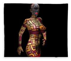 Studio Woman Render 15 Fleece Blanket