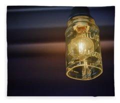 Mason Jar Light Fleece Blanket