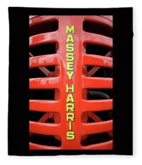 Massey Harris Red Tractor Rib Cage Fleece Blanket