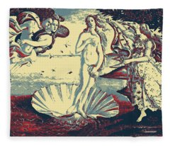 Masterpieces Revisited - The Birth Of Venus By Sandro Botticelli Fleece Blanket