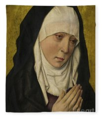 Mater Dolorosa  Sorrowing Virgin Fleece Blanket