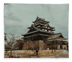 Matsue Castle Fleece Blanket