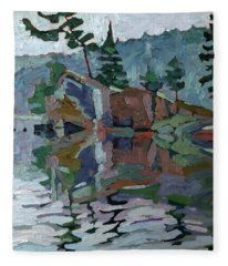 Mattawa Pines Fleece Blanket