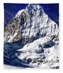 Matterhorn At Twilight Fleece Blanket