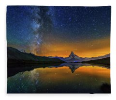 Matterhorn By Night Fleece Blanket