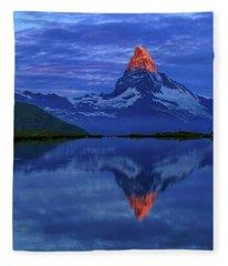 Matterhorn Sunrise Fleece Blanket