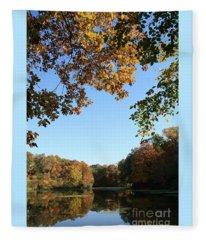 Matthiessen Lake In Autumn Fleece Blanket