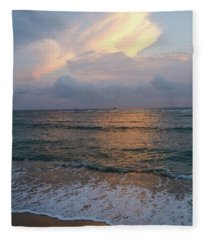 Maui Sunset Fleece Blanket