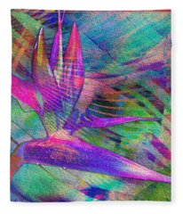 Maui Bird Of Paradise Fleece Blanket