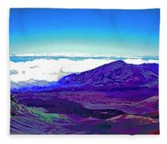 Maui, Haleakala, National Park, Outlook  Fleece Blanket