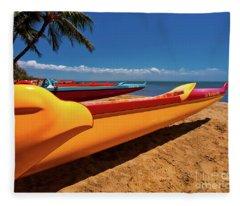 Maui Sugar Beach  Fleece Blanket