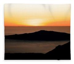 Mauna Kea Sunset Fleece Blanket
