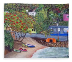 Maunabo Pescaderia Fleece Blanket