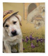 Maverick And Tori - Labrador Art Fleece Blanket