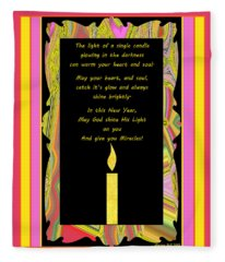 May God Give You Miracles Fleece Blanket