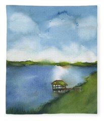 May River 2 Fleece Blanket
